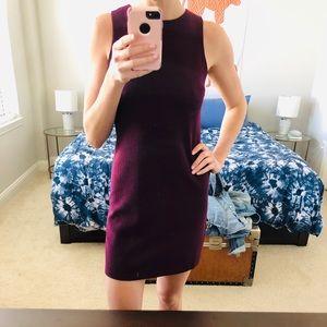 Plum shift dress